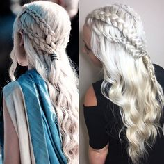 Pin for Later: Copy These Khaleesi Braided Hair Ideas Before Game of Thrones