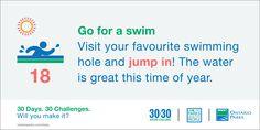 #30x30Challenge: Go for a swim
