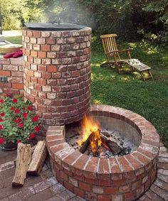 BBQ,.. Smoker and Firepit in one! what a cool combo to have in the back yard.