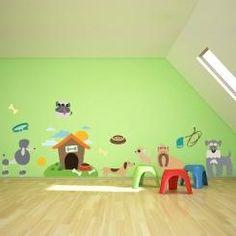 Kit Cameretta Puppies Cuccioli di Cane Wall Sticker Adesivo da Muro Componibile