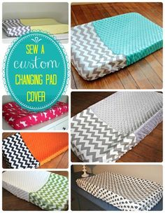 Baby 3 now has a changing pad cover!  Here's a great tutorial on how to make a custom changing pad cover for your baby's nursery.  This tutorial shows you how to make a two fabric cover, as well as the instructions to make a cover out of one fabric.