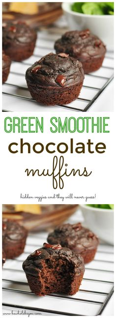 Green Smoothie Chocolate Muffins. Be Whole. Be You.