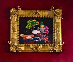 Still life painting of LEGO fruit and seafood | The Brothers Brick | LEGO Blog