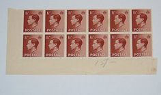 Stamp Pickers Great Britain 1936 Edward VIII MNH Block Lot Sc #232 $16+ Edward Viii, Great Britain, Advent Calendar, Auction, Stamp, Holiday Decor, Stamps