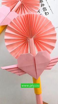Cool Paper Crafts, Paper Crafts Origami, Diy Crafts Hacks, Diy Crafts For Gifts, Cute Crafts, Diy Crafts Videos, Creative Crafts, Diy Paper, Diy Videos
