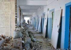 Ход выполнения ремонтных работ в Черноморской больнице