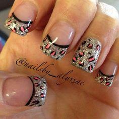 Sexy Nails, Hot Nails, Fancy Nails, Leopard Nail Art, Leopard Print Nails, Leopard Prints, Pink Leopard, Animal Prints, Fabulous Nails