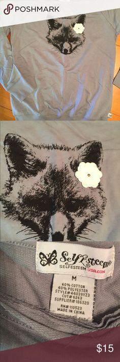 Adorable little fox shirt Cute shirt with adorable fox NWOT Self Esteem Tops Tees - Long Sleeve