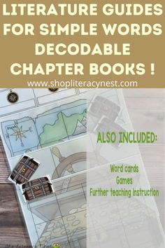 Simple Words Books are fully decodable chapter books with exciting plots! Your students will build their confidence in reading while practicing important literacy skills. This literature guide for The Gold of Black Rock Hill comes in PDF and files in Google Drive for distance learning! Shop your guide here at The Literacy Nest Dyslexia Activities, Dyslexia Strategies, Spelling Activities, Reading Strategies, Genre Study, Word Study, Teaching Reading, Learning, Creative Writing Tips