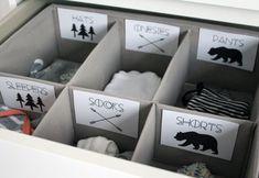Adventure Printable Baby Nursery Drawer Labels print