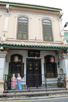 Baba Nyonya Heritage Museum Melaka.  Baba-Nyonya, also known as Peranakan or Straits Chinese, is the descendants of noble Chinese who migrated to the British Straits Settlements of Singapore, Malacca and Penang, and adopted the Malay culture. This unique blend of cultures is born after the intermarriages between them and the local Malay.  More info: http://melakamalaysiatravel.com/?p=41