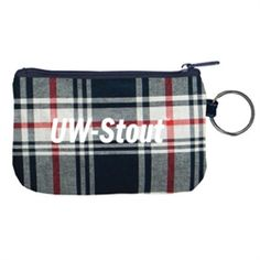 University of Wisconsin-Stout Blue Devils Zipper ID Holder-Fashion Fabrics