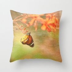 Decorative Pillow Monarch Butterfly Botanical Print Accent Pillow Sofa Throw Pillow Romantic Nature Inspired Home Decor Sofa Throw Pillows, Throw Pillow Covers, Accent Pillows, Decorative Items, Decorative Pillows, Romantic Nature, Monarch Butterfly, Inspired Homes, Botanical Prints
