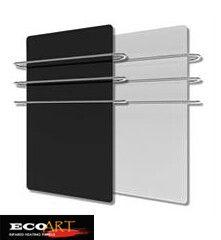 500w Bathroom Glass far Infrared heater with 3pcs towel rails