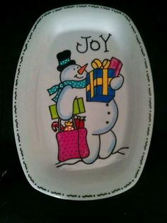 Christmas  Hand painted plate