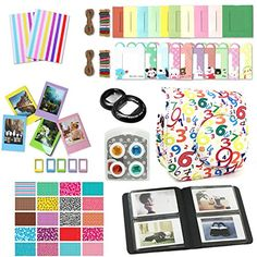 CLOVER 9 in 1 Accessory Bundle Set For Fujifilm Instax Mini 8 Camera  Numbers Case Bag  Album  closeup lens  Color Filter  sticker borders  wall hang frame  film frame  corner sticker BK -- See this great product.