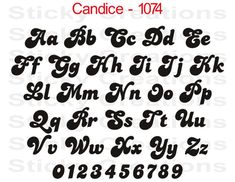 Custom Text Candice Font Customized Personalized Letters Name Fancy Windshield Decal Sticker Vinyl Graphic Rear Back Window Banner Car Wall Retro Font, Groovy Font, Graffiti Alphabet, Typography Alphabet, Bubble Letter Fonts, Tattoo Lettering Fonts, Cute Fonts, Handwriting Fonts, Business Names