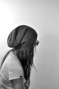 she loves wearing hats.
