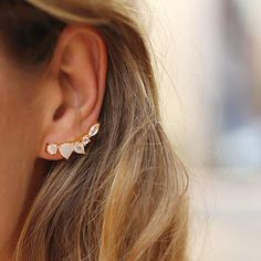 Wing Moonstone Ear Climbers #earclimbers #earcuff