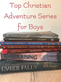 Top 5 Christian Adventure Series for Boys Finding an enjoyable and morally awesome read for our boys is not the easiest task. But what boy doesn't love a little adventure? Kids Reading, Reading Lists, Book Lists, Reading Help, Reading Room, Good Books, Books To Read, Homeschool Books, Homeschooling Resources