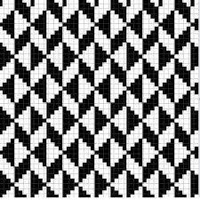Crochet Decora & Veste: Rugs in Led Thread – Graphics # 2 - Knitting Charts Knitting Charts, Knitting Stitches, Knitting Patterns, Tapestry Crochet Patterns, Weaving Patterns, Cross Stitch Designs, Cross Stitch Patterns, Graph Paper Art, Crochet Blocks