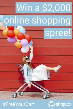 Ready for a $2,000 #onlineshopping spree?   Enter Shop.co's #FreeYourCart sweepstakes to win!