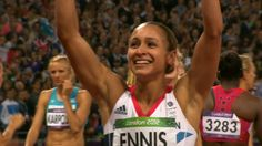 Jessica Ennis was crowned Olympic heptathlon champion in front of an adoring home crowd, as a new British record carried her to an unforgettable gold. Jessica Ennis, Heptathlon, Team Gb, Great Memories, Olympic Games, Great Britain, Olympics, Athlete, Champion