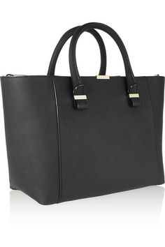 Quincy textured-leather tote, Victoria Beckham