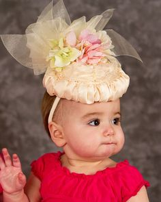 Why Yes I am a Lady Baby Hat Easter Birthday Tea Party by Amarmi, $40.00