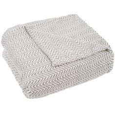 Chevron Charcoal (Grey) 100% Egyptian Cotton Full/Queen Blanket