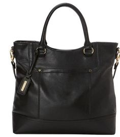 Tignanello Handbag Smooth Operator Shopper Tote Leather Black New Purse Tag b6e9c1a40dfe1