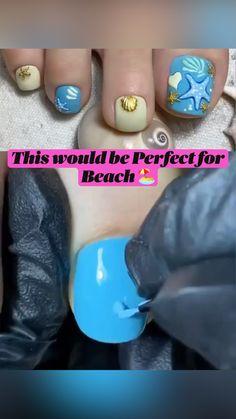 Coffin Nails, Acrylic Nails, Sea Nails, 3d Nail Designs, Nail Hacks, Aquarium Backgrounds, Stamping Nail Art, French Tip Nails, Rhinestone Nails