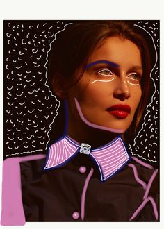 • Collage by Nor Laura • Laetitia Casta for Elle Russia by Arseny Jabiev