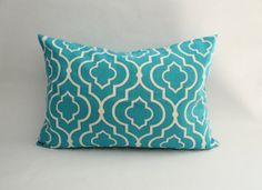 Ocean Blue Pillow Cover Graphic Moroccan by HabitatHandcrafted, $17.95