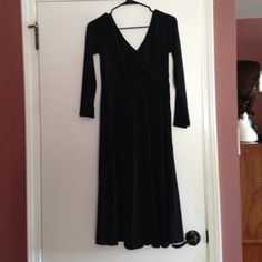 Chadwick's collection criss crossed black dress. Little black criss crossed dress. Great for a night out. Chadwicks Dresses Asymmetrical