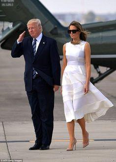 Melania Trump First Lady Wardrobe Fashion PR Backlash Donald Trump, Donald And Melania Trump, John Trump, Trump Is My President, First Lady Melania Trump, Ivanka Trump, Melanie Trump, Trump Pence, White Dress