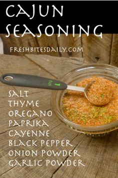 Cajun Seasoning ..  #TheTexasFoodNetwork #chefshellp  share your recipes with us on Facebook at The Texas Food Network