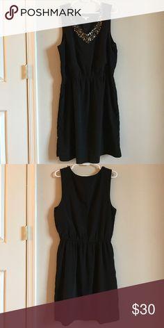 Gap black sleeveless dress with sequin neckline Polyester, machine wash GAP Dresses Midi