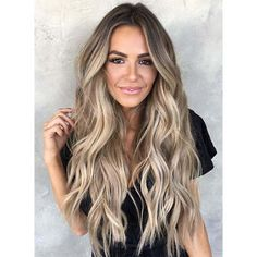 This beige bronde look is pure summer hair goals! This beige bronde look is pure summer hair goals! This beige bronde look is pure summer hair goals! Grey Balayage, Blonde Balayage Highlights, Hair Color Balayage, Bronde Balayage, Blonde Balayage Long Hair, Blonde Hair For Brunettes, Full Balayage, Blonde Hair Extensions, Blonde Ombre