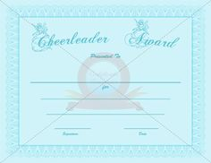 Cheerleader award certificate template pinterest choose from hundreds of free printable certificate templates yelopaper Choice Image