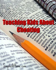 Teaching kids about cheating, Tips, games, video, and book list