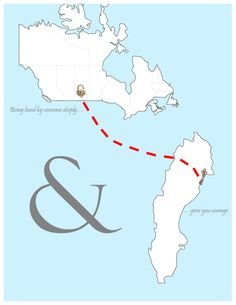 Bridal shower gift idea Long distance relationship