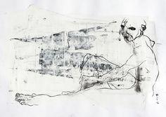 Elie. Carvão, grafite, guache e óleo sobre papel alta alvura 240g. Maio 2016. 48x66cm. EAV Escola de Artes Visuais do Parque Lage - Rio de Janeiro. Modelo Vivo, Prof Gianguido Bonfanti. #eav #parquelage #painting #charcoal #charcoaldrawing #figure #fromlife #livemodel #modelovivo #desenho #carvao #grafite #graphite #guache #gouache #pose #model #nude #oil #oilbar #oleo #nu #figuredrawing #lifedrawing #art #arte
