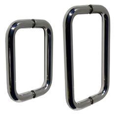 Dark Chrome Back to Back Shower Door Hardware Shower Door Hardware, Shower Door Handles, Frameless Shower Doors, Shower Enclosure, Showers, Chrome, Dark, Glass, Stall Shower