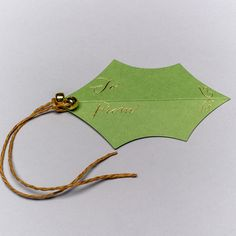Holly Gift Tags in Green