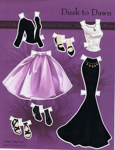 Barbie Dusk To Dawn paper doll clothes / picasaweb.google.com