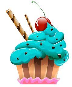 "Photo from album ""Торты, пирожное"" on Yandex. Cupcake Drawing, Cupcake Art, Cupcake Vector, Cartoon Cupcakes, Cupcakes Wallpaper, Chocolate Bonbon, Episode Interactive Backgrounds, Cupcake Pictures, Cup Art"