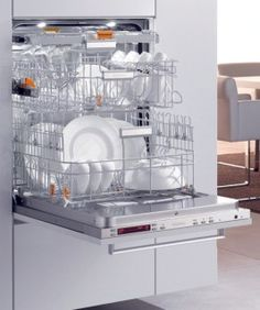 Miele raised dishwasher cabinet helps eliminate the need to bend over when loading/unloading dishes.  Also easy to access for persons using a wheelchair.