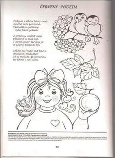 klikni pro další 198/384 Aa School, School Clubs, Adult Coloring, Coloring Pages, Autumn Activities For Kids, Children, Fall, Autumn, Carnavals