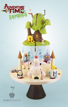Zombie Adventure Time - Cake by Little Cherry